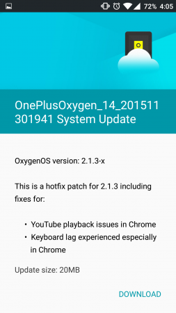 OnePlus software update: Oxygen OS 2.1.3 OTA rolls out to OnePlus X, Android Marshmallow in 2016