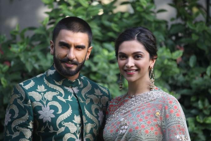 Ranveer Singh and Deepika Padukone on sets of Swaragini