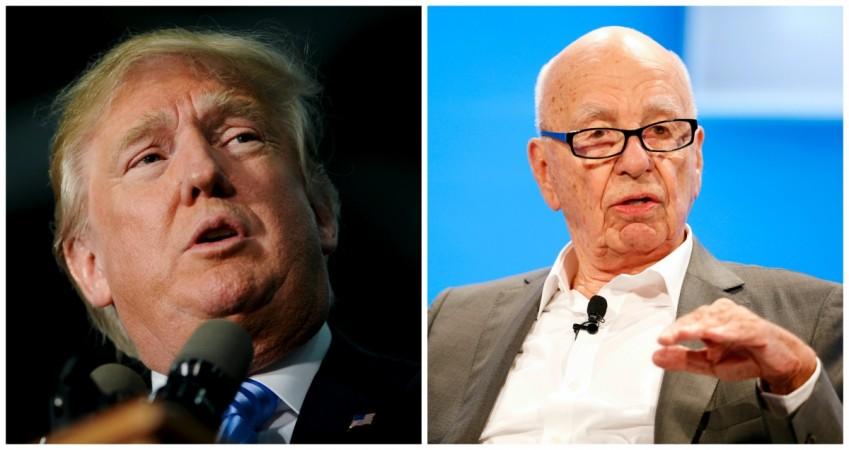 Donald Trump and Rupert Murdoch