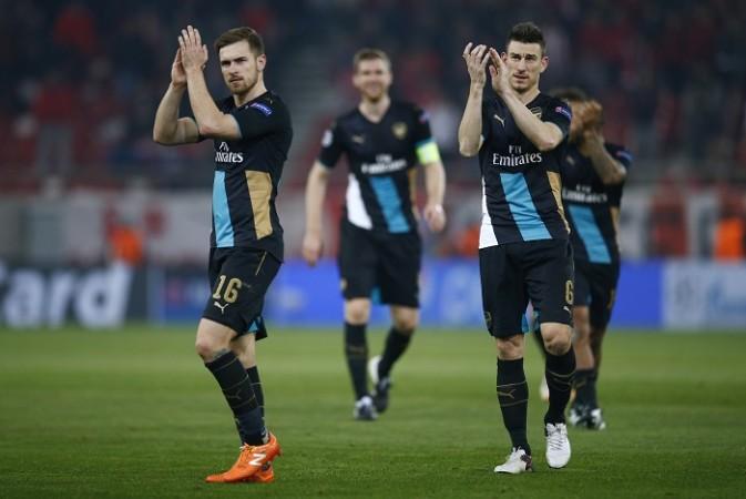 Aaron Ramsey Laurent Koscielny Arsenal