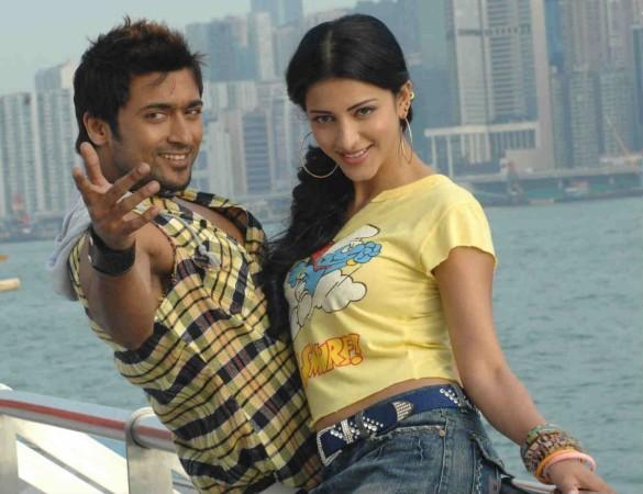 Shruthi Haasan with Suriya