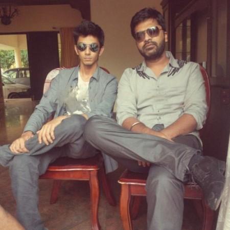 Simbu with Anirudh
