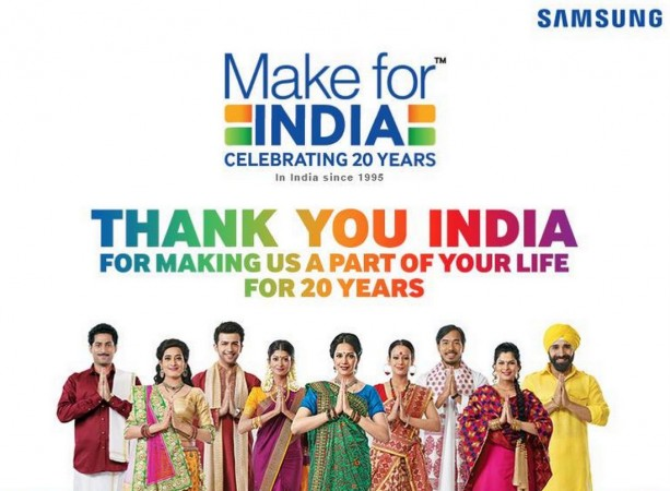 Samsung India celebrates 20 years anniversary; Offers great deals on smartphones, consumer electronics devices
