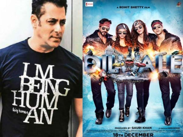 Salman Khan and Dilwale poster