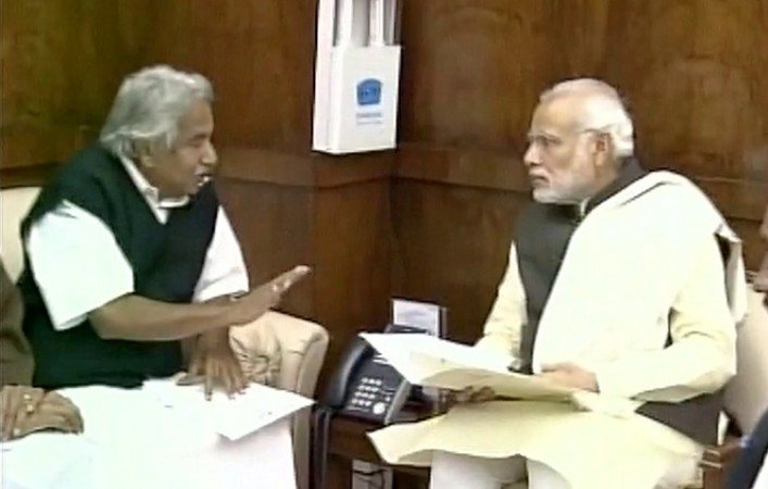 Kerala Chief Minister Oommen Chandy meets PM Modi