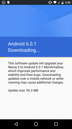 Installing Android 6.0.1 Marshmallow on Google Nexus 5