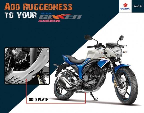 Suzuki Gixxer gets skid plate in India