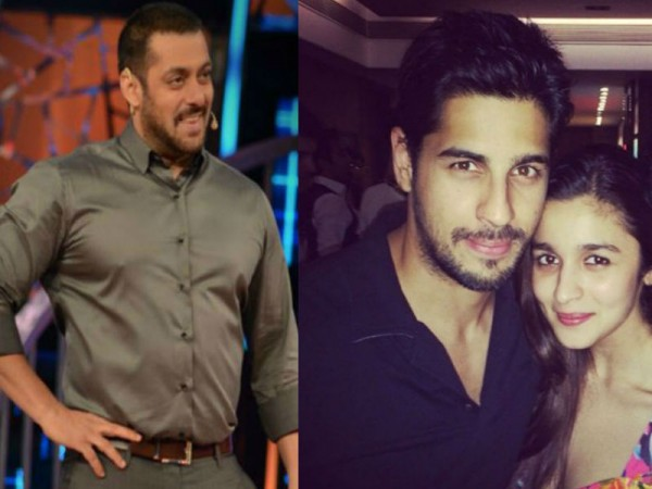 Salman Khan, Sidharth Malhotra and Alia Bhatt