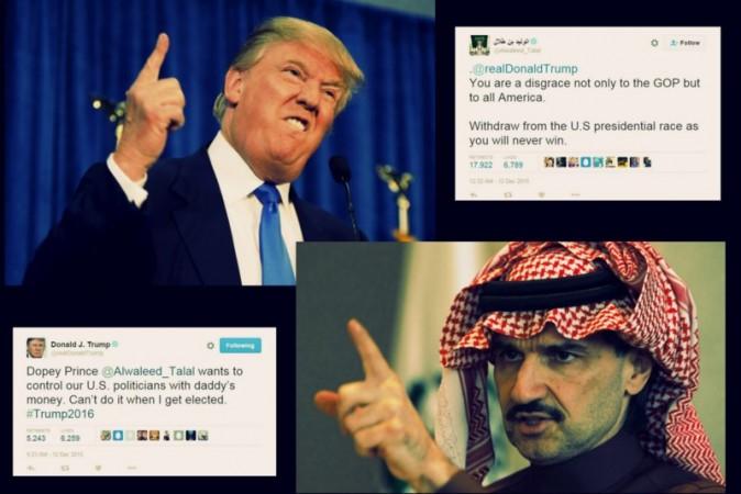 ... war of words has broken out between Trump and Saudi prince Al Waleed
