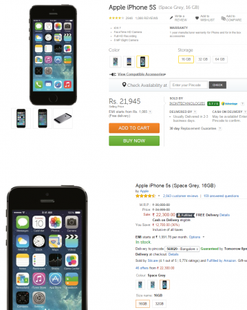 Apple iPhone 5S price slashed in India: Available online for as low as Rs. 21,945