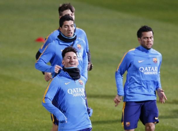 Messi Suarez Alves Barcelona
