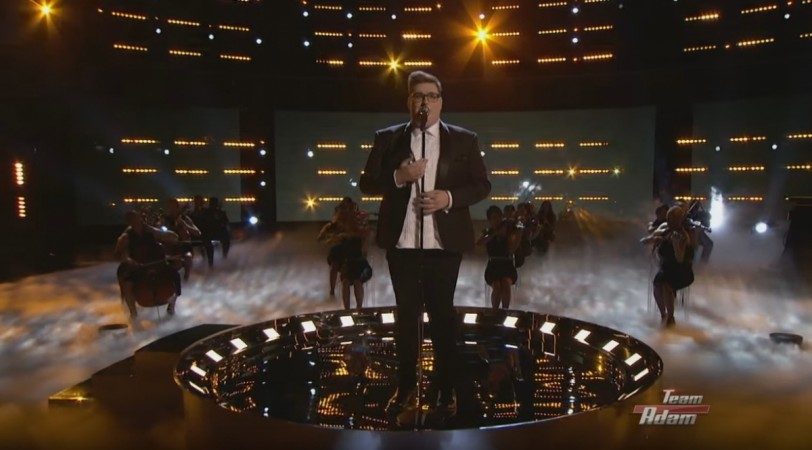 "Jordan Smith of Team Adam on ""The Voice"" USA 2015."