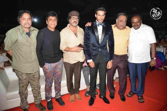 Guests with Nikhil Kumar at Jaguar launch