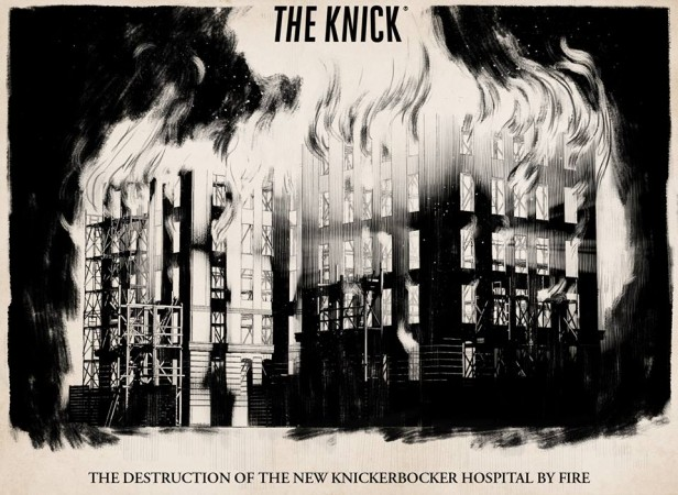 The new Knick building on fire