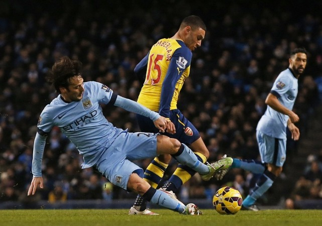 Alex Oxlade-Chamberlain Arsenal David Silva Manchester City