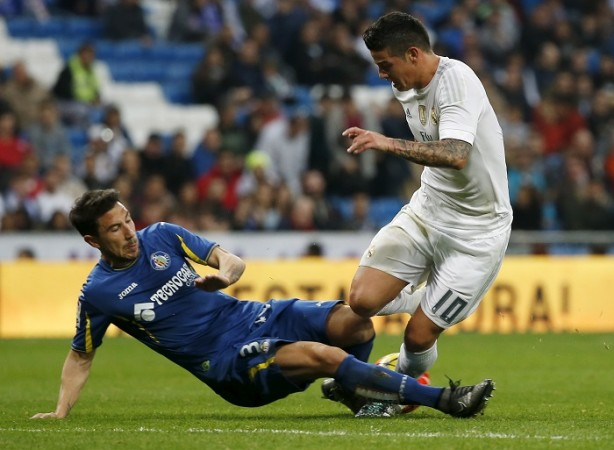 Getafe Roberto Lago James Rodriguez Real Madrid