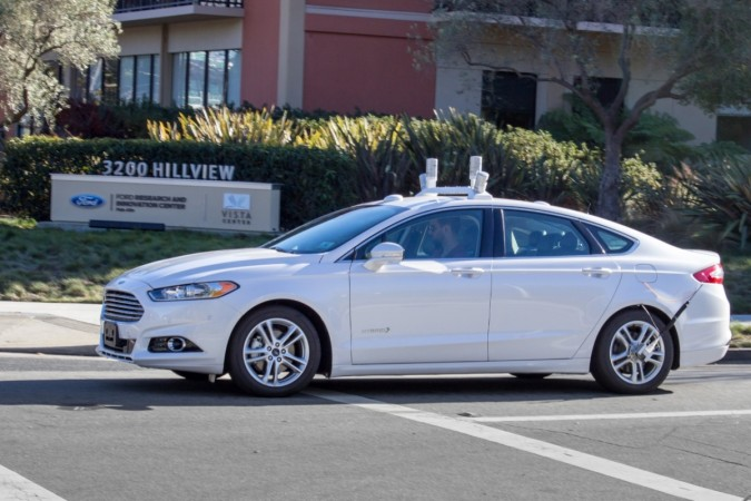 Autonomous Ford Fusion Hybrid on public roads