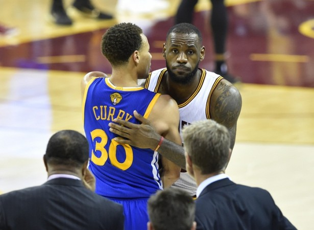 Stephen Curry Golden State Warriors LeBron James Cleveland Cavaliers