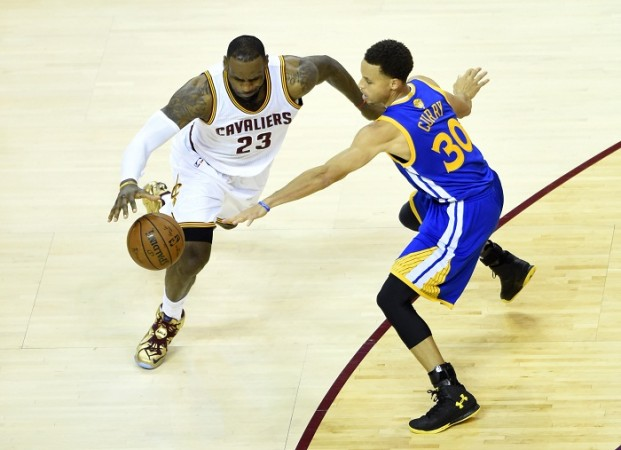 LeBron James Cleveland Cavaliers Stephen Curry Golden State Warriors