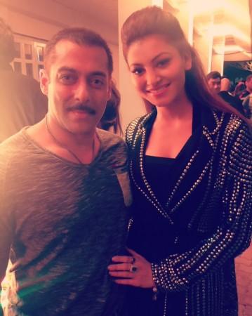 Urvashi Rautela at Salman Khan's birthday bash