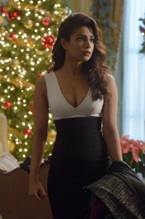 Alex at the Haas' Christmas party in Episode 11 'Inside' of 'Quantico'