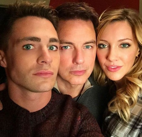 Colton Haynes John Barrowman and Katie Cassidy