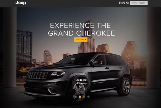 Jeep India homepage