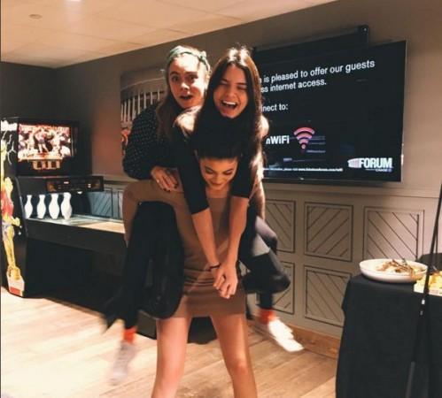 Kylie Jenner, Kendall Jenner and Cara delevingne