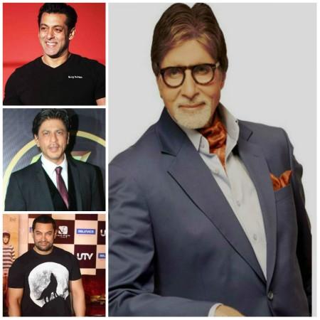 Salman Khan, Shah Rukh Khan, Aamir Khan and Amitabh Bachchan