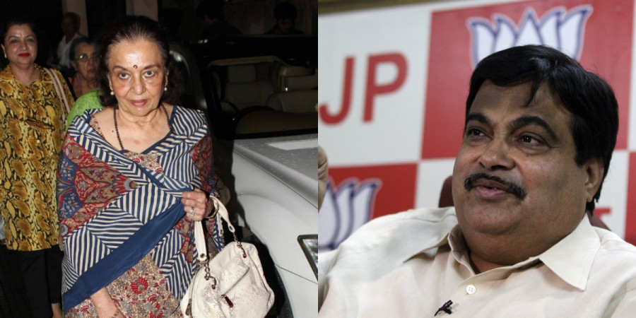 Asha Parekh and Nitin Gadkari