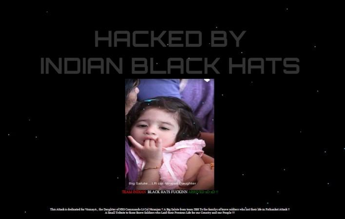 Indian hackers hack Pak websites