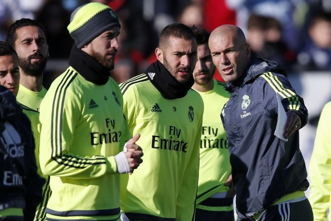 Real Madrid Zinedine Zidane Sergio Ramos Karim Benzema