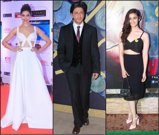 Deepika Padukone, Shah Rukh Khan, Alia Bhatt