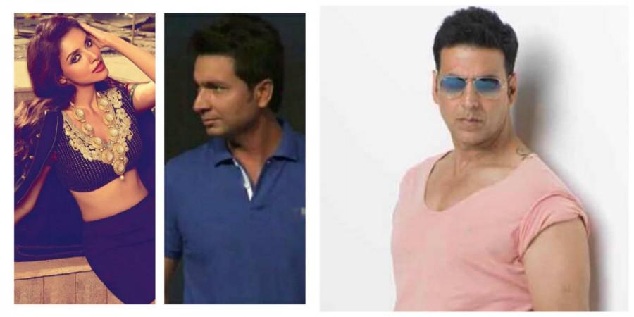 Asin, Rahul Sharma and Akshay Kumar