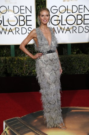 Heidi Klum in a sizzling silver number