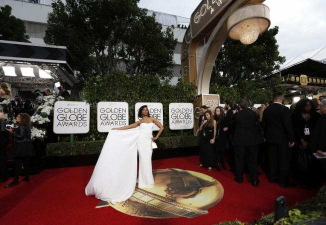 Taraji P Henson at the Golden Globes 2016