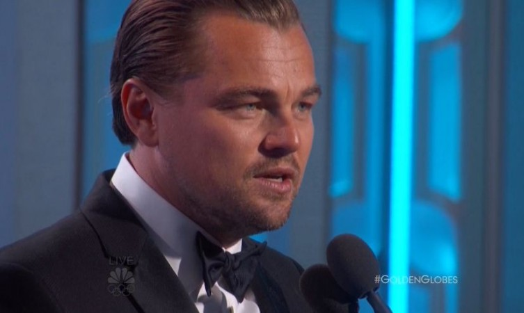 Leo's acceptance speech at the Golden Globes 2016