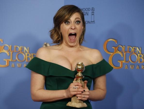 Rachel Bloom for her Golden Globe trophy