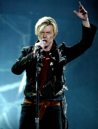 David Bowie performing at New York's Madison Square Garden in 2003.