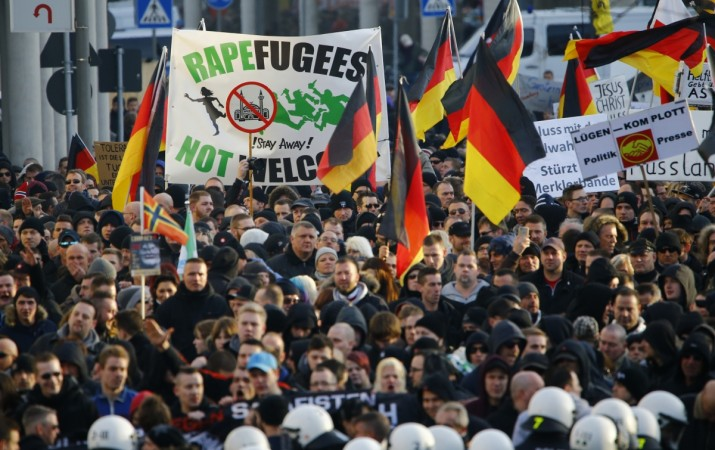 anti-refugee protest in germany