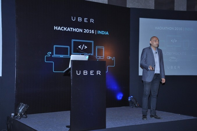Saad Ahmed, Business Development Lead, Uber India, speaking at the Uber Trip Experiences API launch event in Bengaluru on Tuesday, 12 January, 2016.