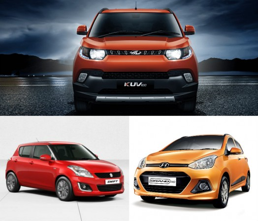 Mahindra KUV100 vs Maruti Suzuki Swift vs Grand i10