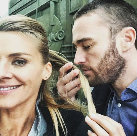 Eliza Coupe and Jake McLaughlin appear as former husband and wife in Quantico