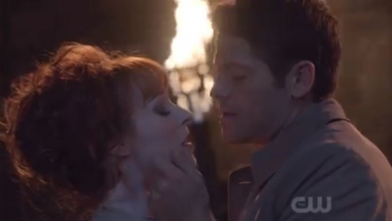 Rowena and Cas in Supernatural