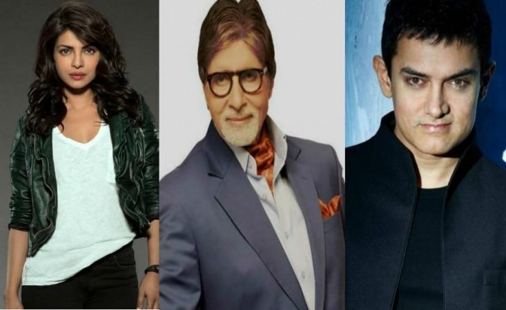 Priyanka Chopra, Amitabh Bachchan and Aamir Khan