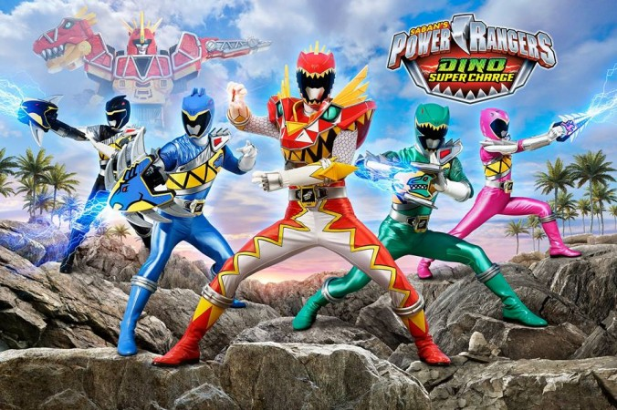 Power Rangers Dino Super Charge Title Card