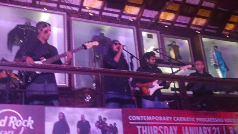 Agam performing at Hard Rock Cafe, Bangalore
