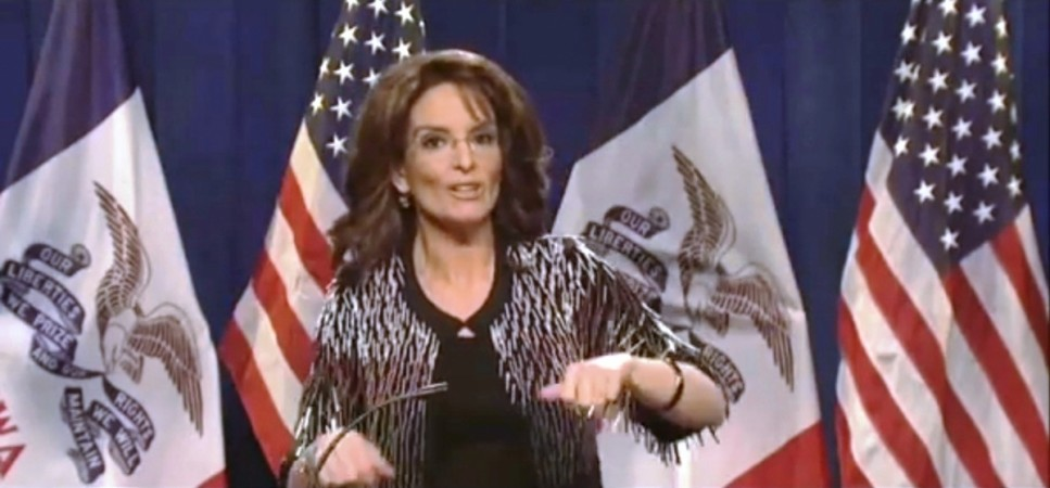 Tina Fey as Sarah Palin in Saturday Night Live