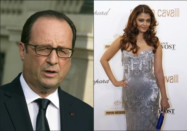 Francois Hollande, Aishwarya Rai Bachchan