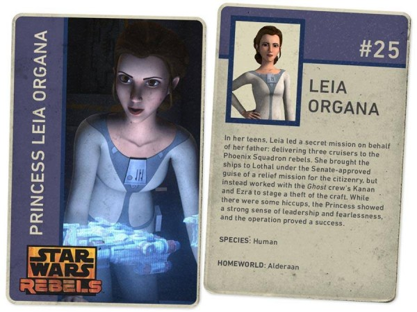 Princess Leia Organa as she appears in Star Wars Rebels